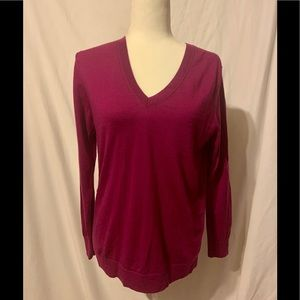 Purple Banana Republic Merino wool Sweater